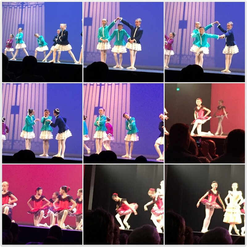 montage danse floutee