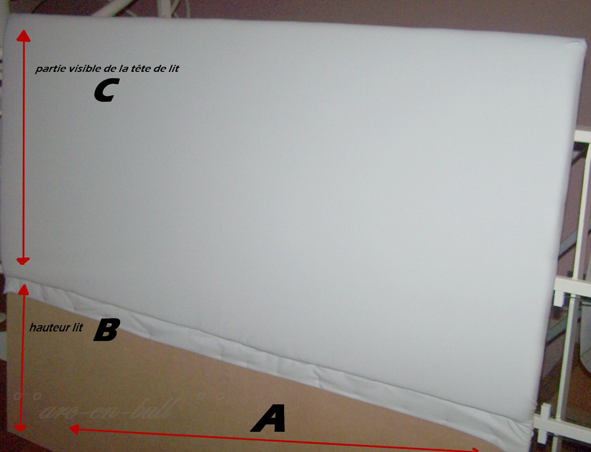 Fabrication d 39 une t te de lit simple arc en bull - Tuto tete de lit ...
