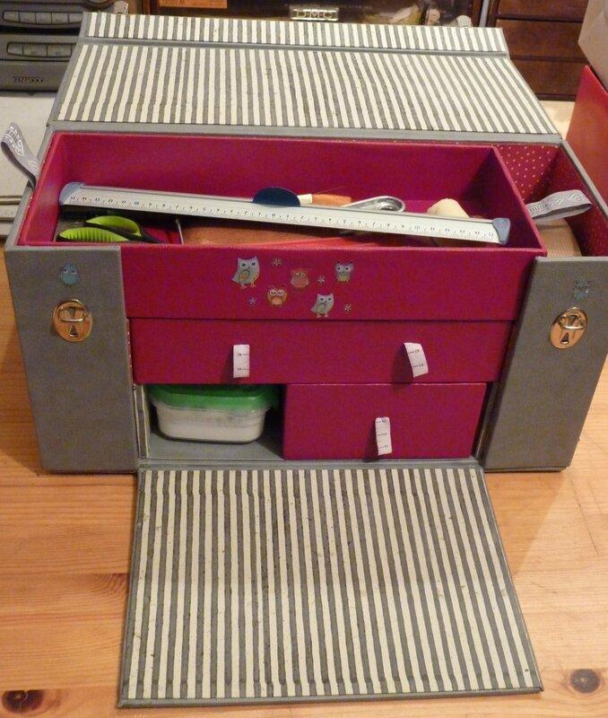 malette de rangement cartonnage la folie. Black Bedroom Furniture Sets. Home Design Ideas