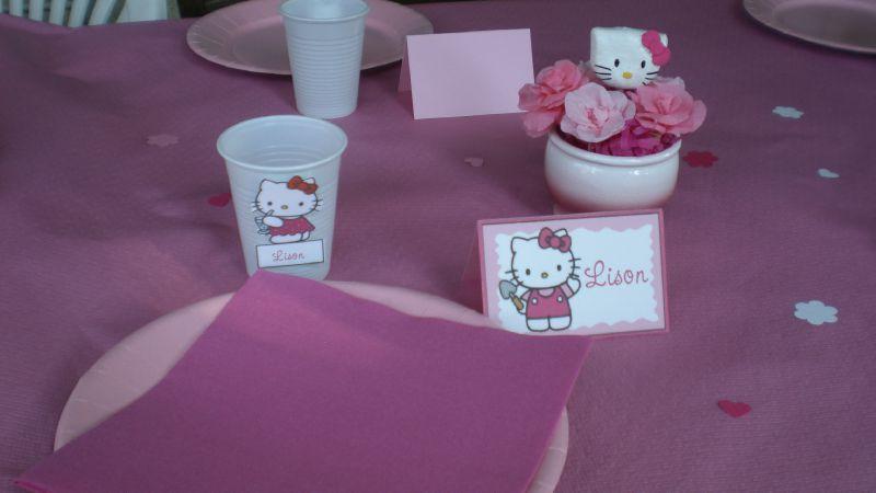 décoration de table theme hello kitty #4