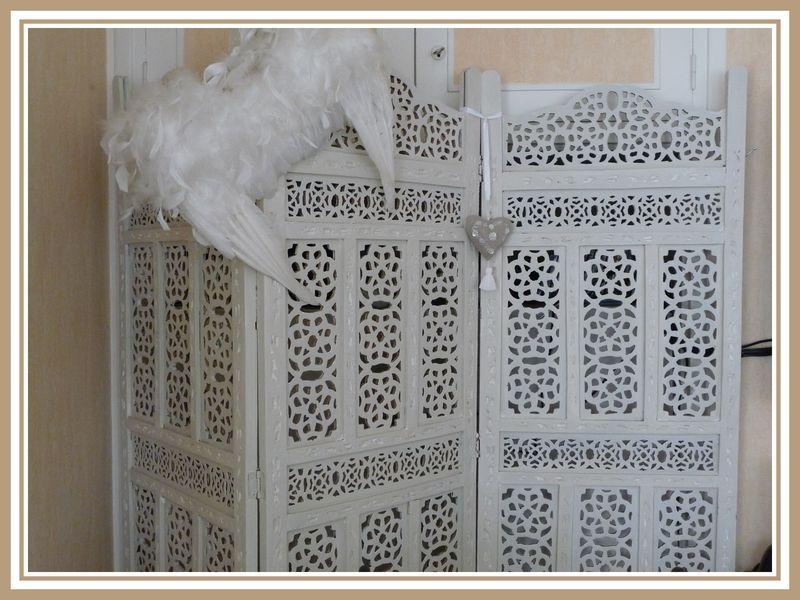paravent patine argile et blanc colombe 2 photo de meubles et patine eloglossy. Black Bedroom Furniture Sets. Home Design Ideas