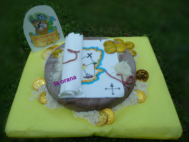 Gâteau Carte au trésor/Treasure map cake