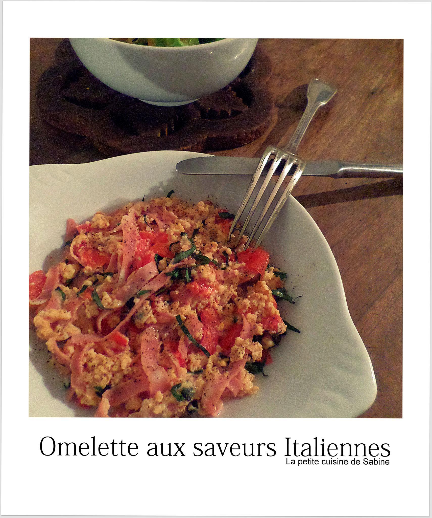 Omelette aux saveurs italiennes la petite cuisine de sabine for La cuisine de clea