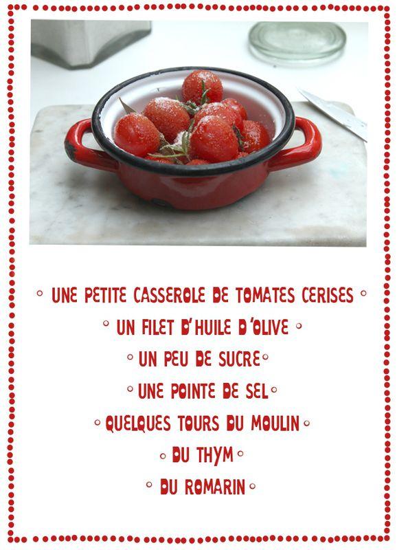 petites tomates cerises confites -2- ingrédients