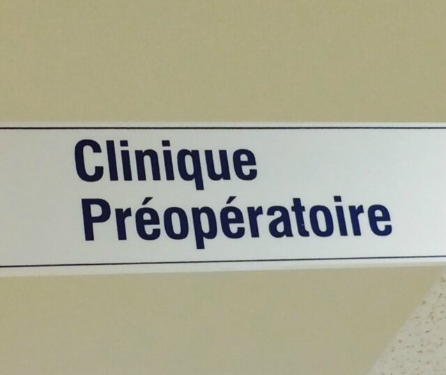 Clinique preop
