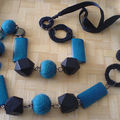 collier turquoise et noir