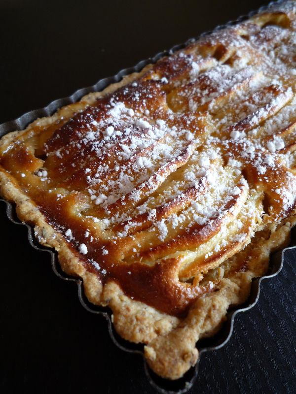 tarte aux pommes p 226 te bris 233 e aux noisettes cook up