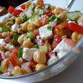Salade de pois chiches estivale et orientale