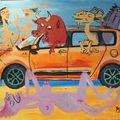 Tableaux évènementiels par FRIANDART peintre caricaturiste-LYON