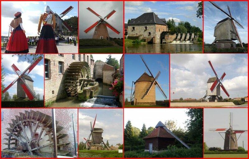moulins de la région copiright QM