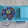 Accessoires de sac tout en turquoise