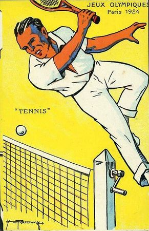 CPA Paris 1924 Tennis