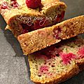 Cake pistache framboises sans œufs