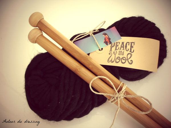 pelote peace and wool laine kit tricoter 2