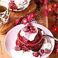 Gâteaux de pancakes pour la saint valentin
