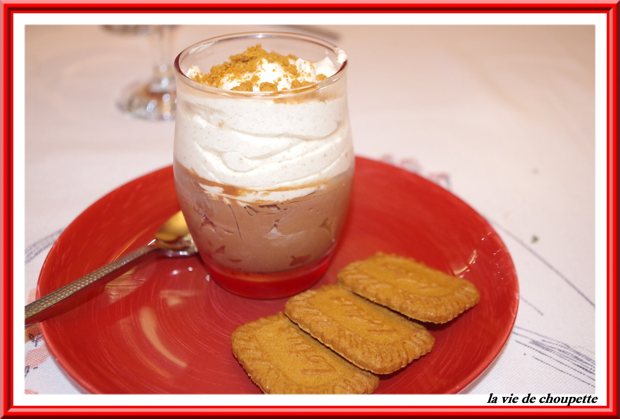 MOUSSES CHOCO-CAFE ET SPECULOOS
