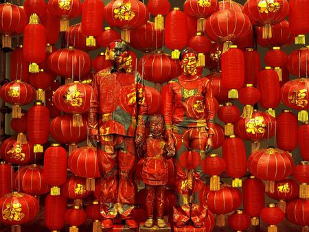 Liu Bolin 2012 Family photo