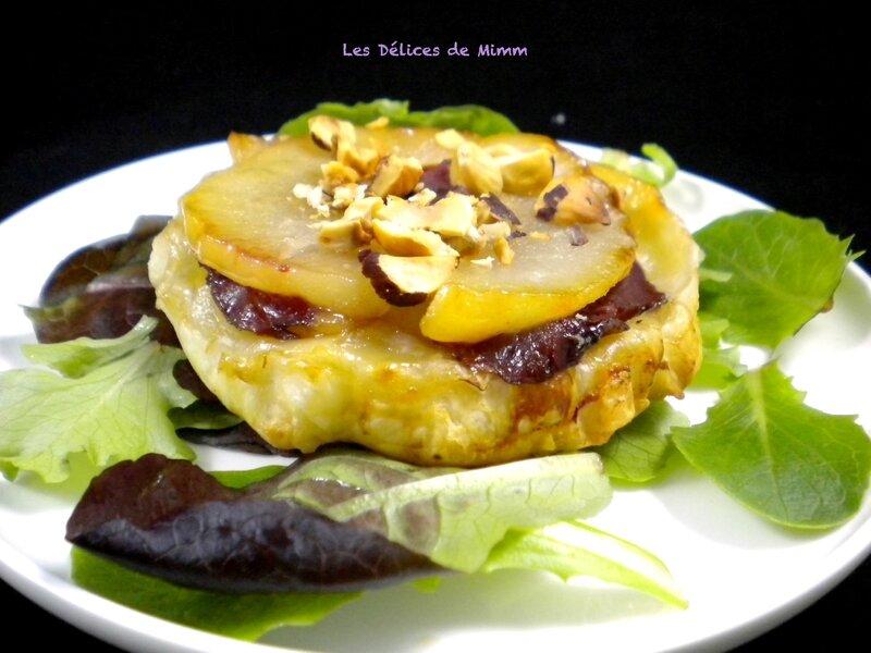 Tartelette Tatin aux poires, magret de canard et au noisettes 3