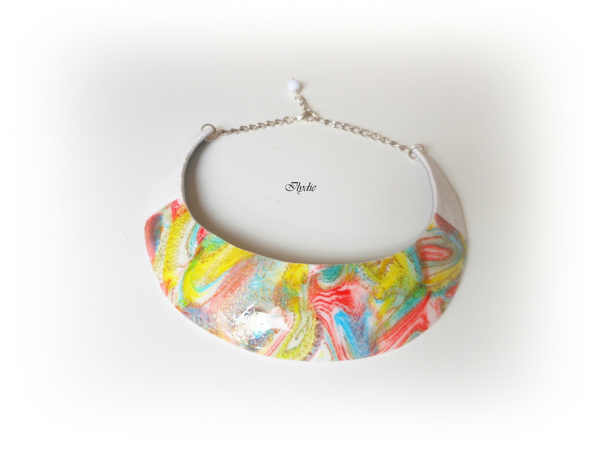 Collier plastron ink'n roll multicolore C33 2014