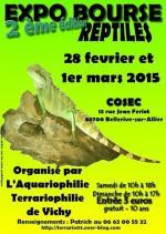Affiche de la 2em Expo-Bourse reptiles Vichy (L'aquariophilie Terrariophilie de Vichy)