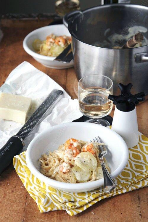 one pan pasta crevettes courgette 001 LE MIAM MIAM BLOG