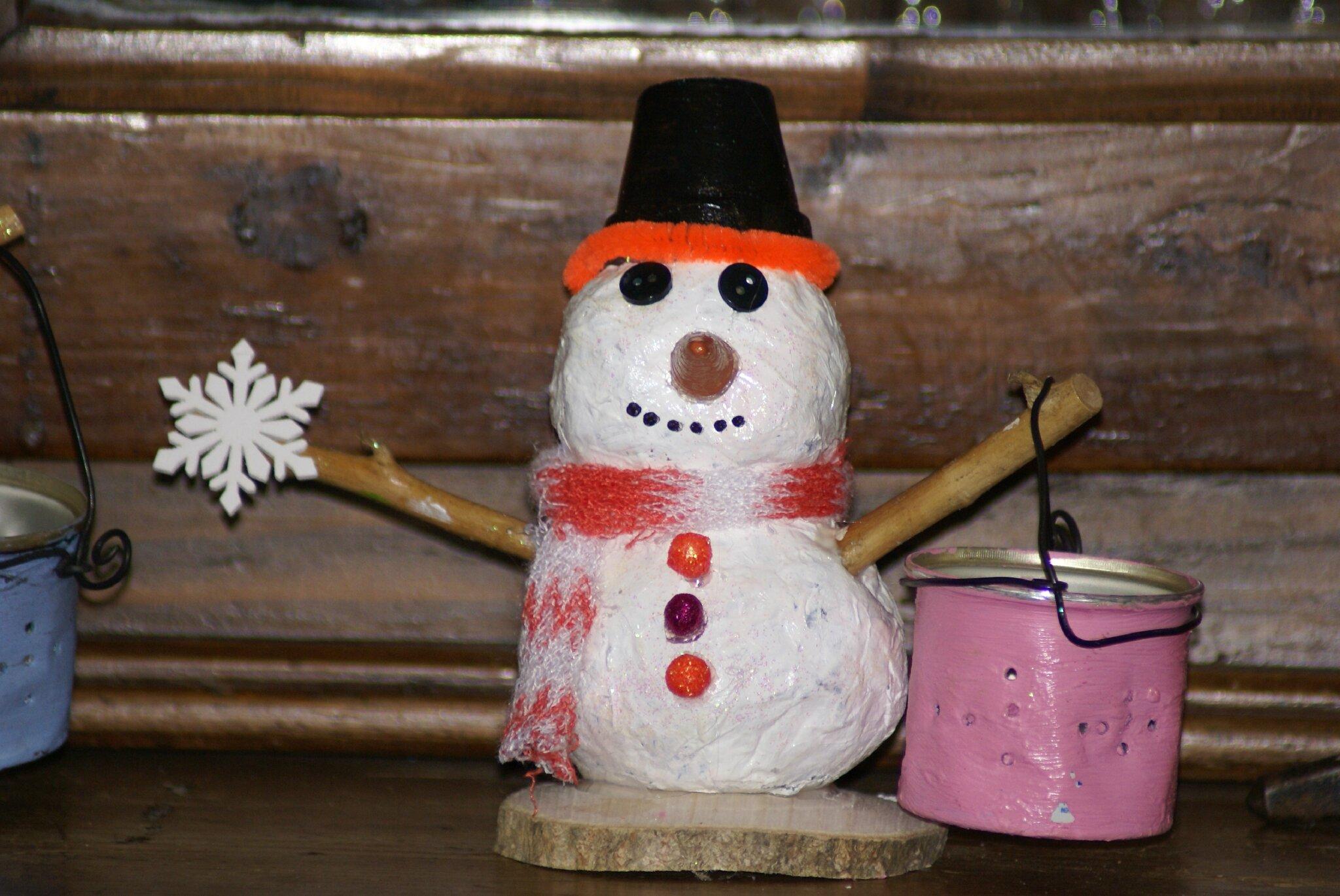 Atelier bonhomme de neige le blog de ceska - Bonhomme de neige en papier ...