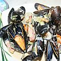 Moules de bouchots poireau et Philadephia ail & fines herbes