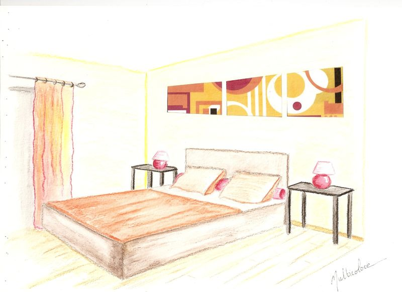 croquis chambre ambiance multicolore decor 39 in id es conseils. Black Bedroom Furniture Sets. Home Design Ideas