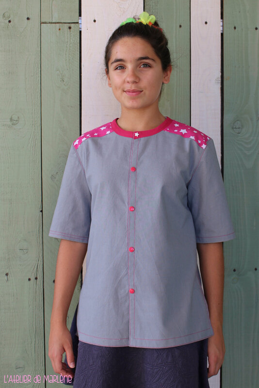 blouse de peinture personnalisée Anna 1