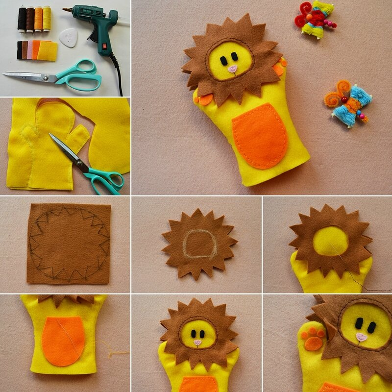 1080-Easy-Embroidery-Tutorial---How-to-Make-Homemade-Yellow-Felt-Toy-Gloves-for-Kids