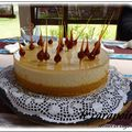 LE CARAPOIRE ( entremet noisettes/poires/caramel )