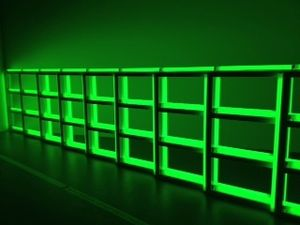 7 Exposition Dynamo, Grand palais, Paris, Dan Flavin, Untitled (to you, Heiner with admiration and affection