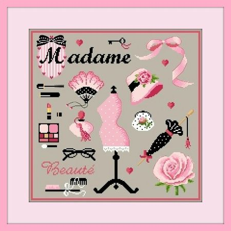 Madame photo G cadre rose
