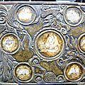 art asiatique plateau pierre incrusté nacre
