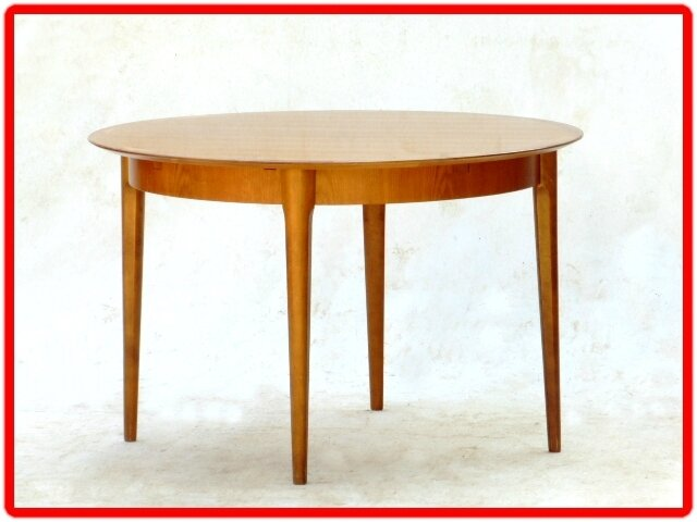 TABLE + CHAISE LABEL LUBKE DESIGN SCANDINAVE TECK DORE