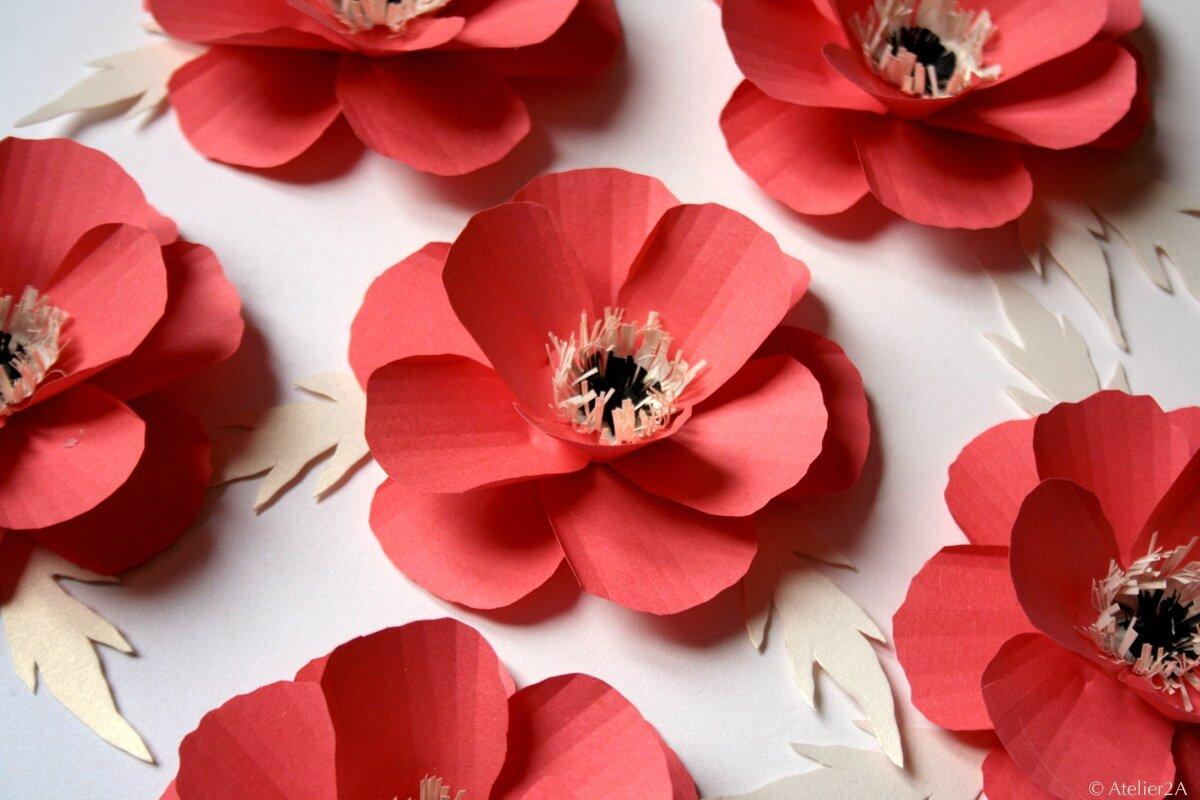 fabrication de fleurs en papier coquelicot en papier. Black Bedroom Furniture Sets. Home Design Ideas
