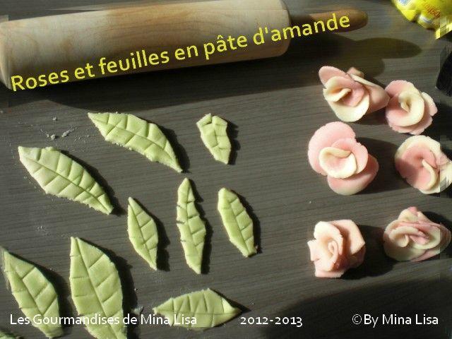 Tuto pour feuilles en p te d 39 amande les gourmandises - Decor en pate d amande ...