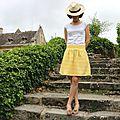 Une chardon jaune soleil.