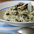 Le risotto d'aubergine