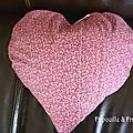 verso coussin coeur