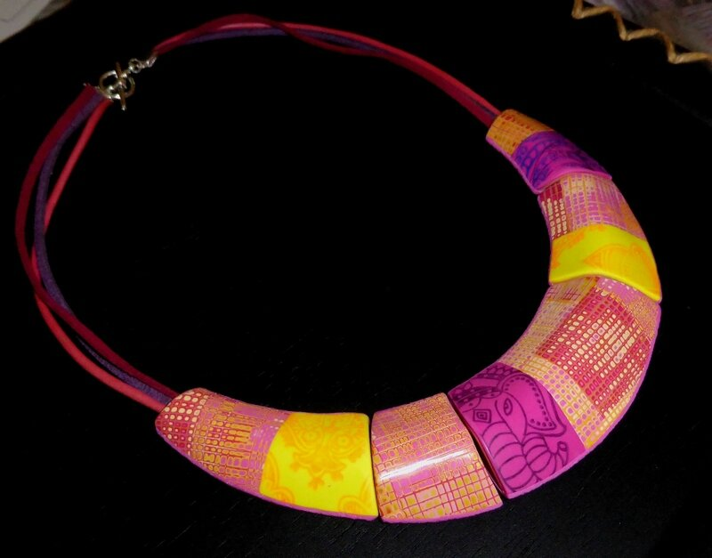 SOLY CAT - COLLIER MADRAS STAGE HELENE JEANCLAUDE