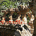 Twisted Rock Pillars,Parc Güell , Barcelona.