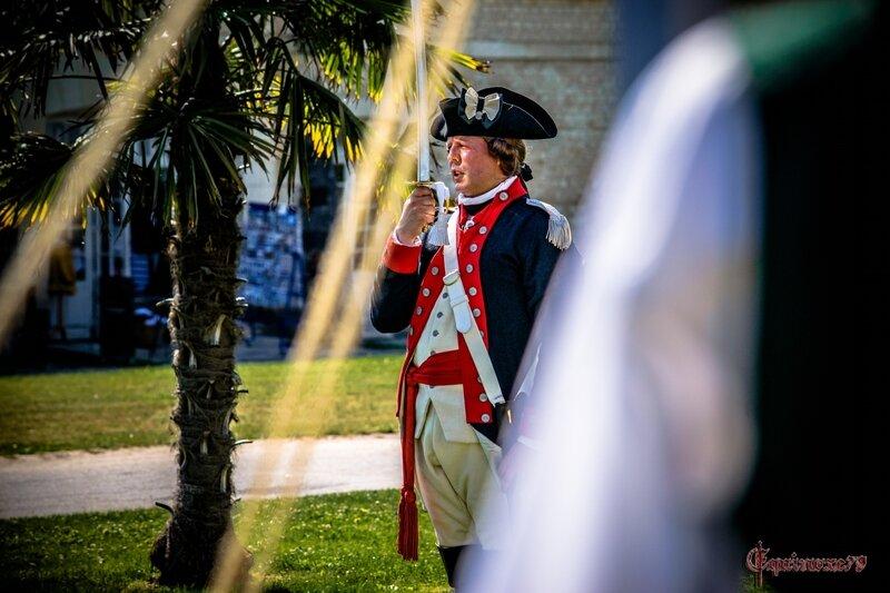 Guerre d'Indépendance Américaine (1775 – 1783) Retour dans le temps du Groupe Lafayette Rochefort 350 ans (30)