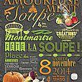 A la souuuupppeeeee !! amoureusement soupe ! festival de la soupe le samedi 8 novembre paris j'y serais !