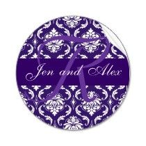 wedding_monogram_r_purple_damask_favor_sticker_p217784157989499578tdcj_210