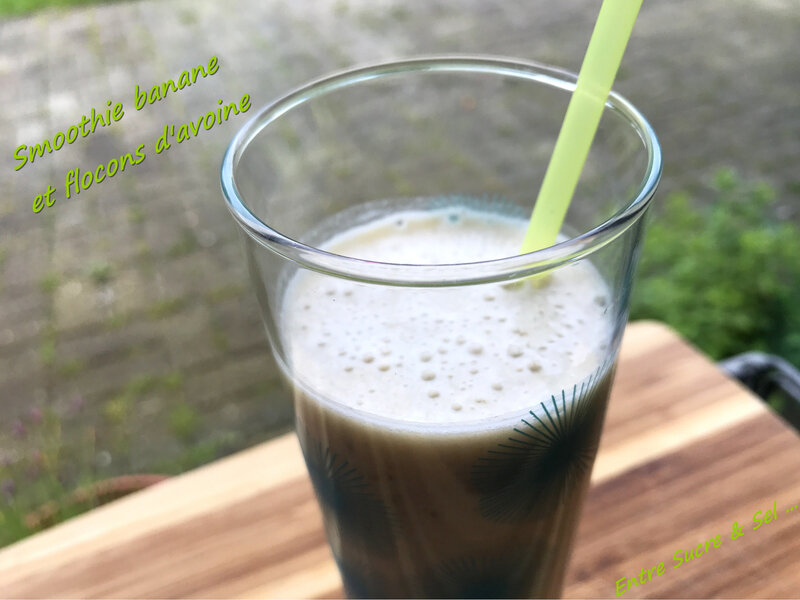 Smoothie banane avoine 2