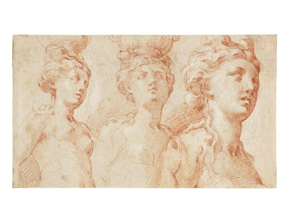 Girolamo Francesco Mazzola, Called Il Parmigianino (Parma 1503 1540 Casal  Maggiore), Three Studies Of A Nude Female Figure