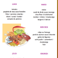 Menus des repas scolaires du 13 au 17 septembre 2010