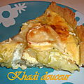 Quiche au courgette et fromage de chévre - ronde inter-blog#21