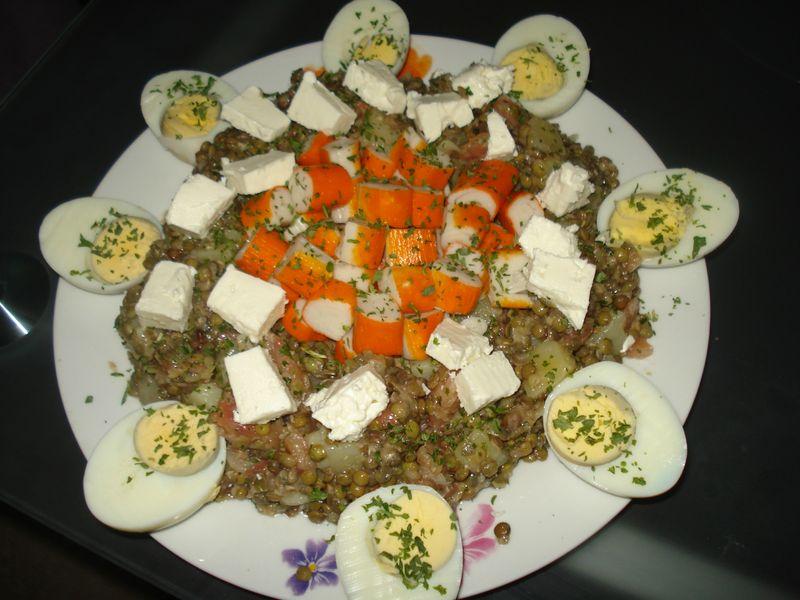 Salade de lentilles vertes pommes de terre tomate - Table de visite pomme de terre ...